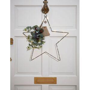 Marks & Spencer Pre Lit Star Wreath - Metal