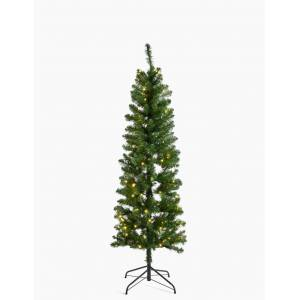 Marks & Spencer 6ft Pre Lit Slim Nordic Christmas Tree - Green Mix