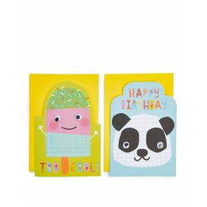 Marks & Spencer Pack of 8 Cute Characters Birthday Cards -  - unisex