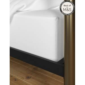 Marks & Spencer Comfortably Cool Extra Deep Fitted Sheet - White