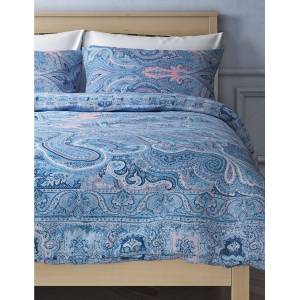 Marks & Spencer Pure Cotton Sateen Paisley Summer Print Bedding Set - Spice Mix