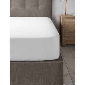 Marks & Spencer Brushed Cotton Deep Fitted Sheet - White