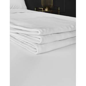Marks & Spencer Pure Egyptian Cotton 400 Thread Count Flat Sheet - Ash Grey
