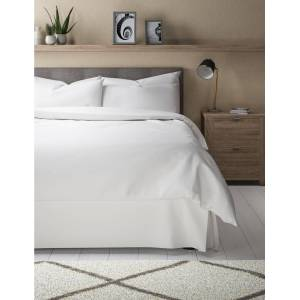 Marks & Spencer Egyptian Cotton 400 Thread Count Sateen Valance - White
