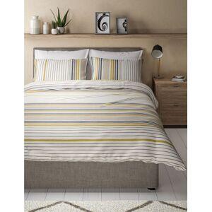 Marks & Spencer Painterly Stripe Bedding Set - Blue