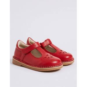 Marks & Spencer Kids' Walkmates™ Leather Cross Bar Shoes (4 Small - 11 Small) - Red