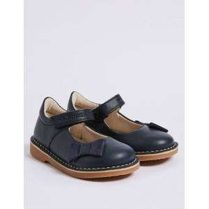 Marks & Spencer Kids' Walkmates™ Leather Cross Bar Shoes (4 Small - 11 Small) - Navy