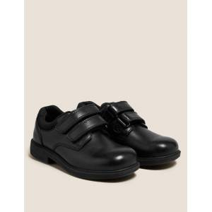 Marks & Spencer Kids' Leather Riptape School Shoes (8 Small - 1 Large) - Black