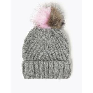 Marks & Spencer Pom-Pom Beanie Hat - Grey