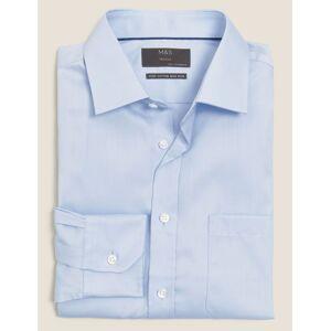 Marks & Spencer Regular Fit Cotton Non-Iron Shirt - Sky Blue