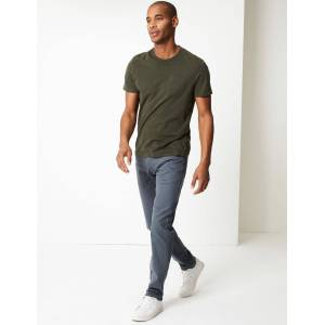 Marks & Spencer Tapered Fit Stretch Jeans with Stormwear™ - Grey