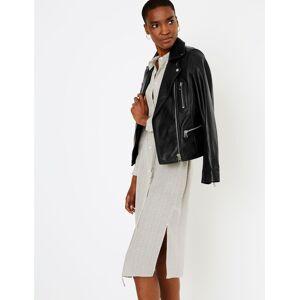 Marks & Spencer Leather Biker Jacket - Black
