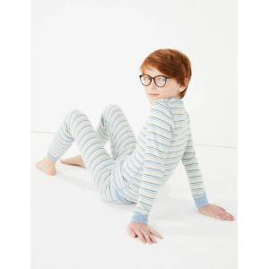 Marks & Spencer Thermal Striped Set (18 Months - 16 Years) - Blue Mix