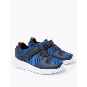 Marks & Spencer Kids' Light As Air™ Knitted Riptape Trainers (5 Small - 12 Small) - Blue Mix