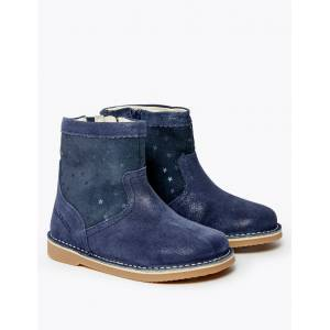 Marks & Spencer Kids' Walkmates™ Suede Chelsea Boots (4 Small - 11 Small) - Navy