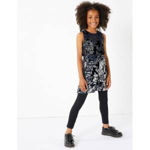 Marks & Spencer Sequin Playsuit (3-16 Years) - Navy