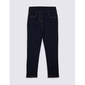 Marks & Spencer Adaptive Cotton Rich Jeggings (3-16 Years) - Navy