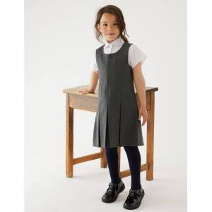 Marks & Spencer Girls' Permanent Pleats Pinafore - Brown
