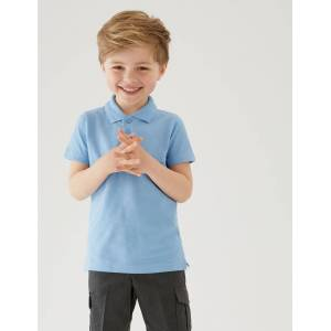 Marks & Spencer 2 Pack Boys' Slim Fit Polo Shirts - Blue
