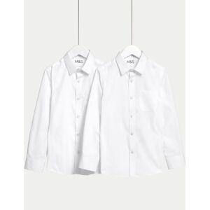 Marks & Spencer 2 Pack Girls' Regular Fit Non-Iron Blouses - Blue
