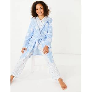 Marks & Spencer Star Print Dressing Gown (1-16 Years) - Pale Blue