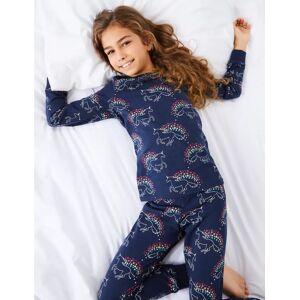 Marks & Spencer Unicorn Print Pyjama Set (3-16 Years) - Navy