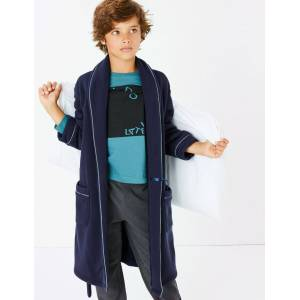 Marks & Spencer Jersey Dressing Gown (1-16 Years) - Navy