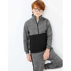 Marks & Spencer Cotton Funnel Neck Sweatshirt (3-16 Years) - Grey