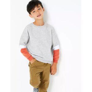 Marks & Spencer Colour Block Sweatshirt (3-16 Years) - Navy