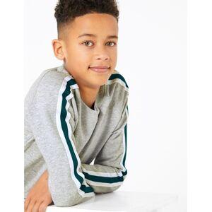 Marks & Spencer Raglan Striped Sweatshirt (6-16 Years) - Blue