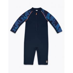 Marks & Spencer Camouflage Design All in One (6-16 Years) - Blue Mix