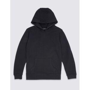 Marks & Spencer Cotton Rich Unisex Hooded Sweatshirt - Red