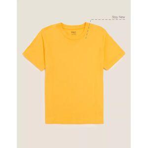 Marks & Spencer Unisex Pure Cotton T-Shirt - Royal Blue