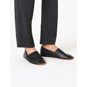 Marks & Spencer Leather Mule Slippers - Black