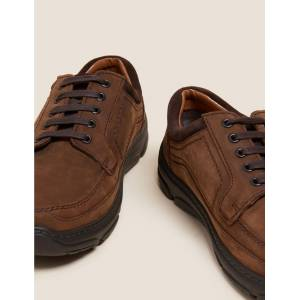 Marks & Spencer Extra Wide Fit Leather Shoes with Airflex™ - Brown