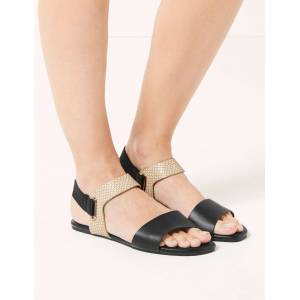 Marks & Spencer Elastic Ring Detail Sandals - Neutral