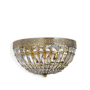 Marks & Spencer Gem Ball Flush Wall Light - Antique Brass