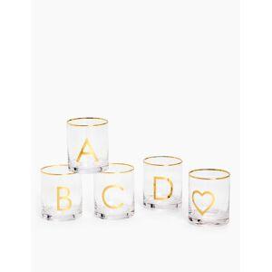 Marks & Spencer Alphabet Glass - Gold Mix
