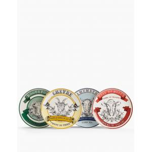 Marks & Spencer Set of 4 Ceramic Cheese Plates - Multi