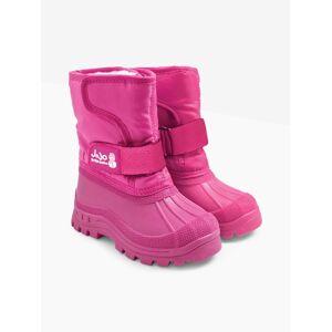 JoJo Maman Bebe Children's Alpine Snow Boots - Pinks - FEMALE - Size: UK Size 11