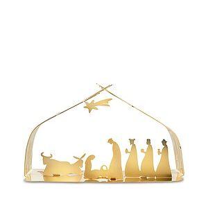 Alessi Bark Gold nativity scene