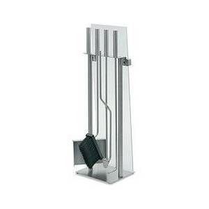 Blomus Chimo A set of fireplace tools covered with glass