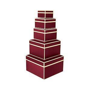 Semikolon Die Kante Gift boxes 5 pcs. of burgundy