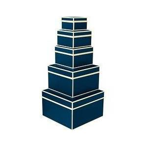 Semikolon Die Kante Gift boxes 5 pcs. navy blue