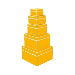 Semikolon Die Kante Gift boxes 5 pcs. yellow
