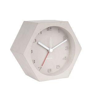 Karlsson Hexagon Alarm clock gray