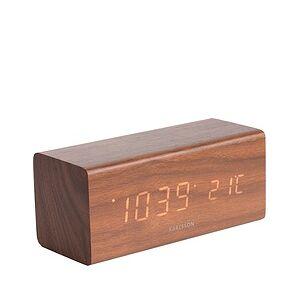 Karlsson LED Block Alarm clock dark wood