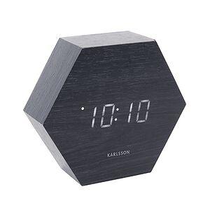 Karlsson LED Hexagon Alarm clock black