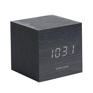 Karlsson LED Mini Cube Alarm clock black