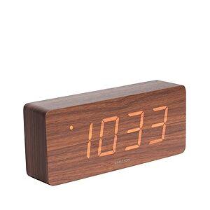 Karlsson LED Tube Alarm clock dark wood